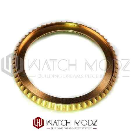 Brushed Gold Sub Style Bezel Edge