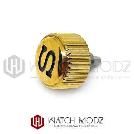 "Gold Coin Edge ""Black S"" Crown for skx007"