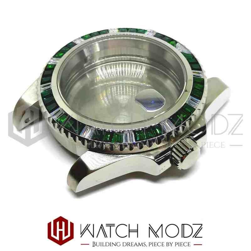 NH35 Gem Sub Case: Green Emerald