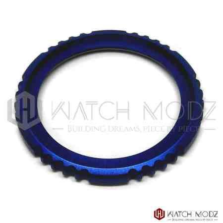 Brushed Blue Fugu Style Bezel Edge for seiko skx007