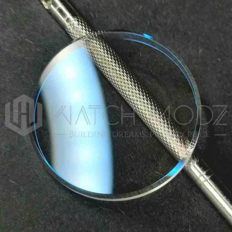 Blue flat Sapphire for skx007 seiko mod