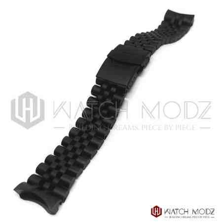 seiko skx007 matte black aftermarket jubilee bracelet