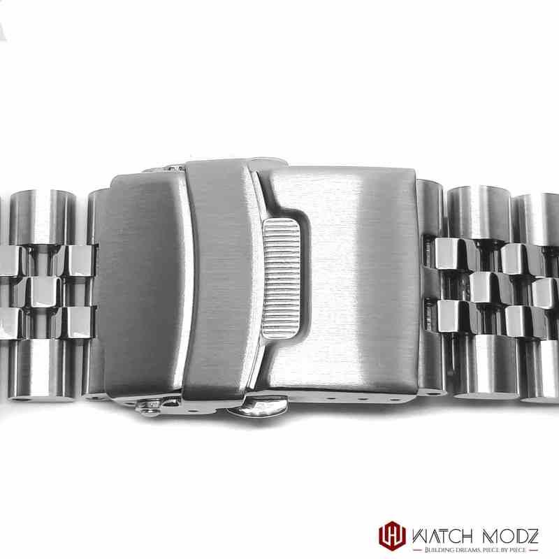 seiko skx007 silver aftermarket jubilee bracelet