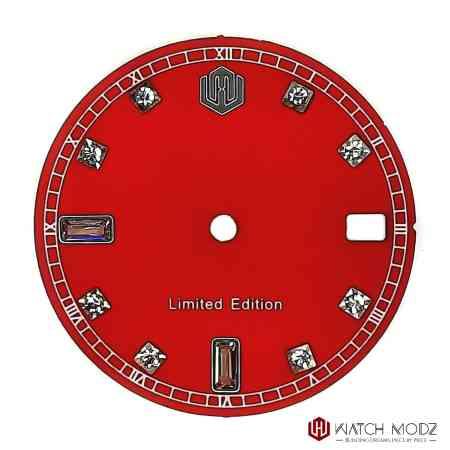 Nh35 red Swarovski dial