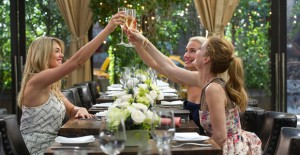 THE OTHER WOMAN Amber (Kate Upton, left), Carly (Cameron Diaz) and Kate (Leslie Mann) toast their friendship. Ph: Barry Wetcher TM and © 2014 Twentieth Century Fox Film Corporation.  All Rights Reserved.  Not for sale or duplication.