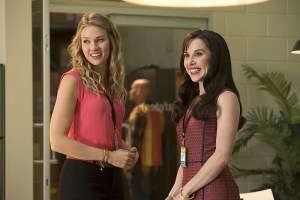 "No Tomorrow -- ""No Regrets"" -- Image Number: NOT105a_0124.jpg -- Pictured (L-R): Tori Anderson as Evie and Allyn Rachel as Fern Berger-- Photo: Jack Rowand/The CW -- © 2016 The CW Network, LLC. All rights reserved."