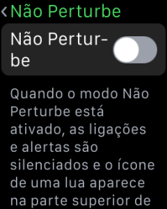 Apple Watch - Não Perturbe