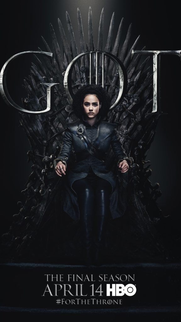 16. Missandei GOT Season 8 For The Throne Character Poster-min