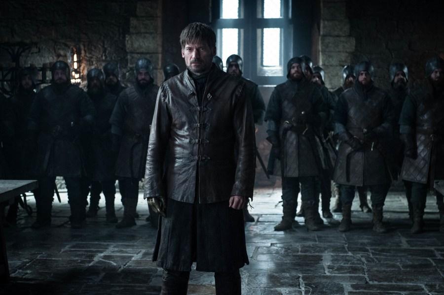 It looks like Jaime's trial will be quite tense. Will Brienne speak for him? Photo: Helen Sloan / HBO