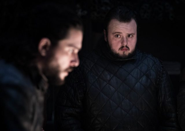 Kit Harington (left) as Jon Snow and John Bradley as Samwell Tarly. Photo: Helen Sloan / HBO