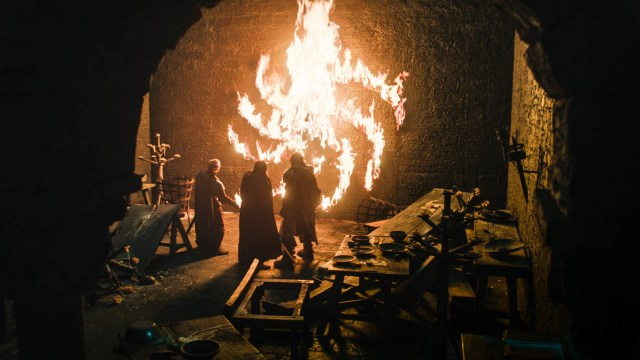 Lord Umber burning Winterfell episode