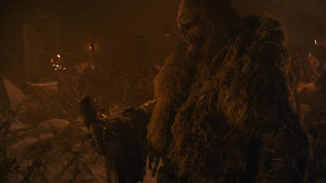 Lyanna Mormont Wight Giant Season 8 803 The Long Night