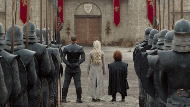 Daenerys Targaryen Dress Back Grey Worm Tyrion Lannister King's Landing Season 8 804