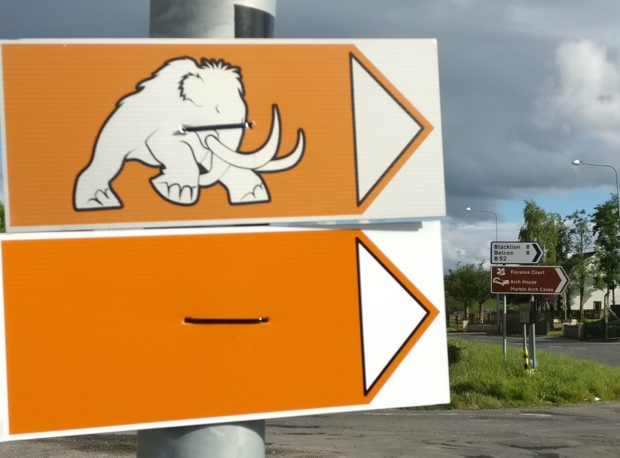 Bloodmoon Marble Arch Caves Orange Sign Mammoth