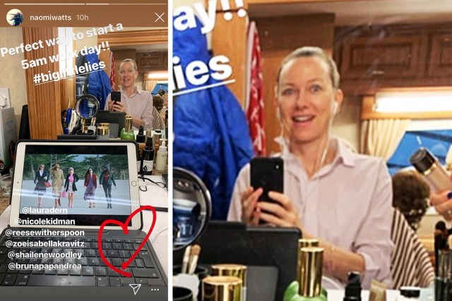 Screenshoot of Naomi Watts Instagram Story by Decider