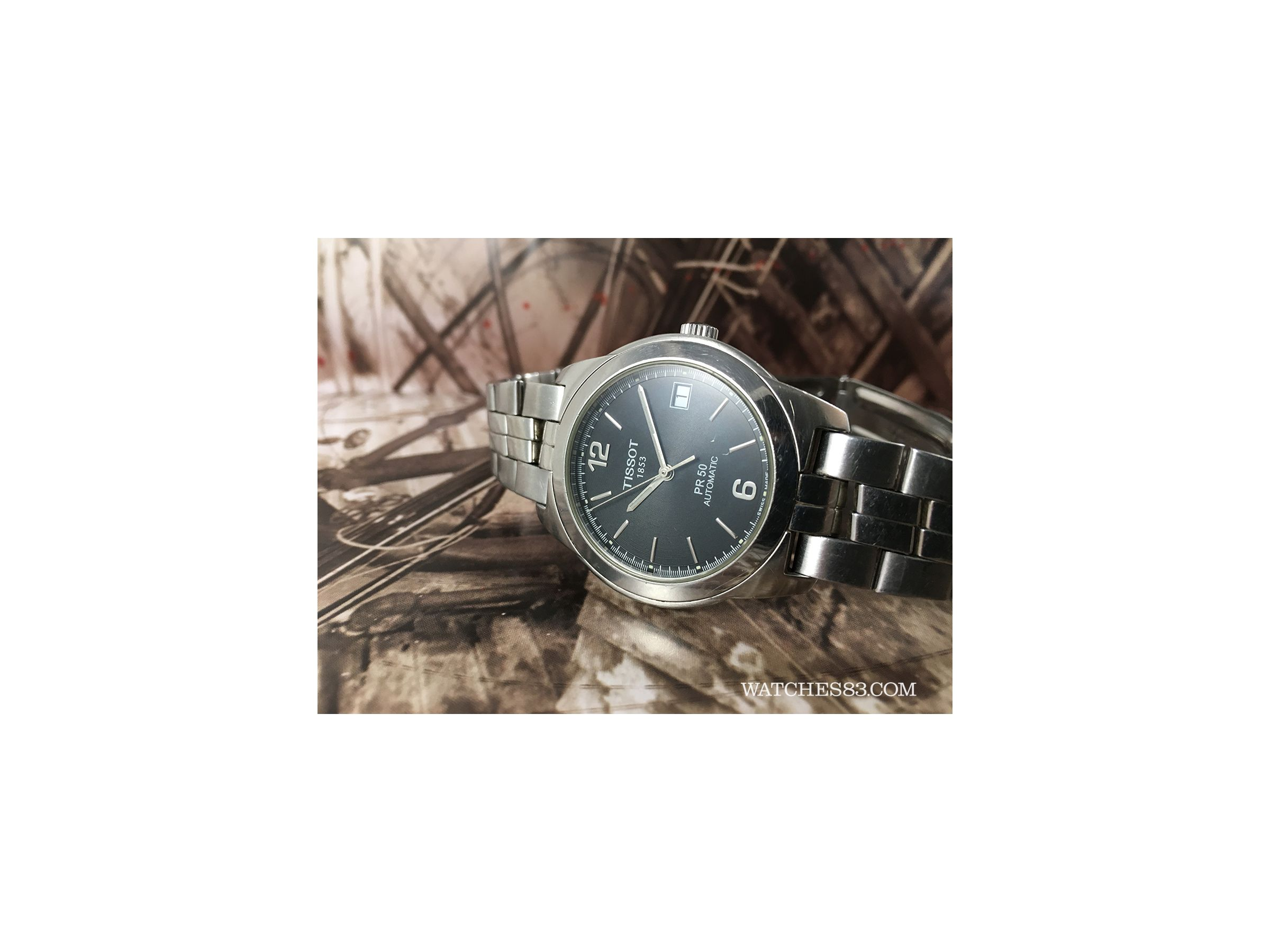 Black Swiss Watch Automatic Tissot 1853 Automatic PR50 Watches83