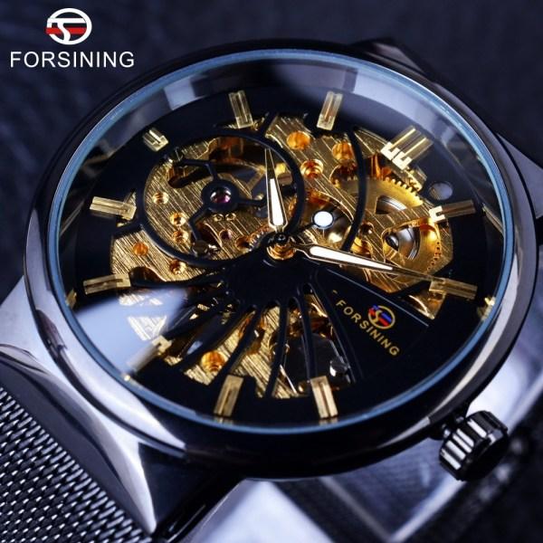Fashion Luxury Thin Mechanical Skeleton Watch