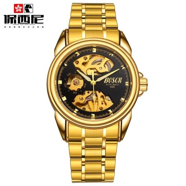 Men Gold Watches Mechanical Watch