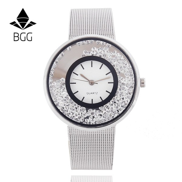 Fashion Stainless Mesh Strap Watch