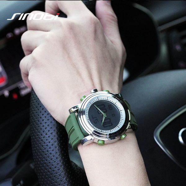 Men's Digital Watch Geneva Quartz