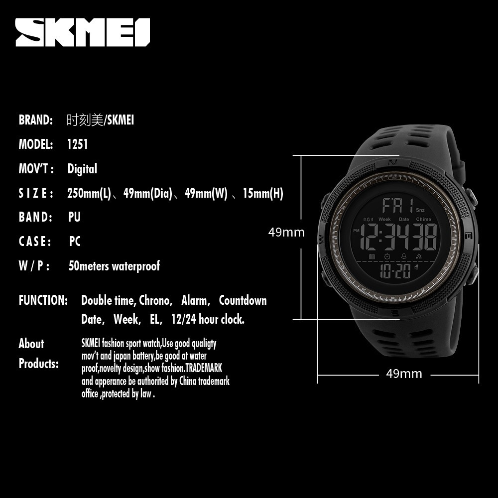 Men Sports Watches LED Digital Watch