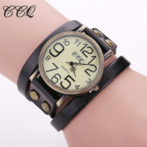 Vintage Cow Leather Bracelet Watches