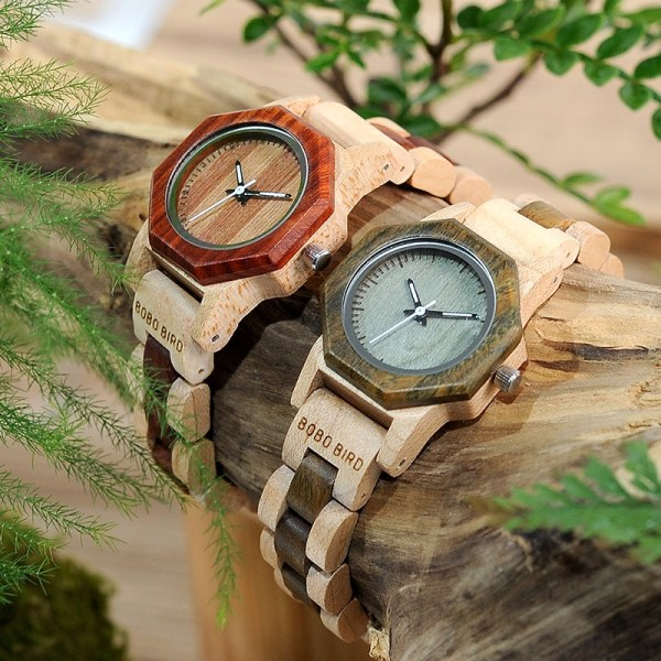 Wood Wrist watches Lady Quartz Watch