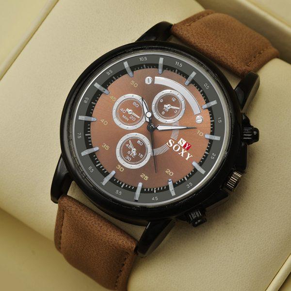 Pu Leather Watch Luxury Men Luminous Watches