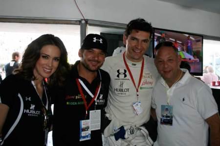 A toda velocidad: Hublot Nuevamente la firma suiza acompañó a su piloto en una fecha más del calendario de la serie LATAM 2000. Jacqueline Bracamontes, Marc Jouille, Martín Fuentes y Ari Berger.