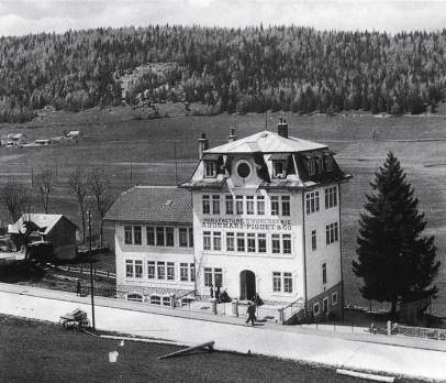 Vista de la manufactura en 1907