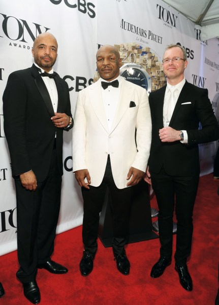 Olivier Audemars, Mike Tyson y Xavier Nolot.