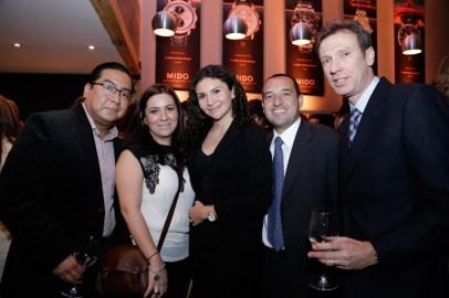Karen Meneses, Pamela Delgado, Yaxum Pegueras, Mario Carmona y Carlos McBeath, Brand Manager de Tissot México.