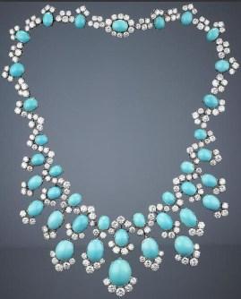 Collar Bulgari, turquesas y diamantes.