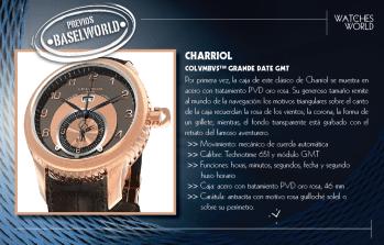 Charriol Colvmbvs Grande Date GMT.
