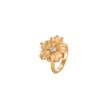 DA13501 010101 - Emperatriz medium ring in yellow gold and diamond