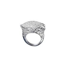 DA13552 020101 - Garzas maxi ring in white gold and diamonds