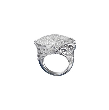DA13552 020101 - Garzas maxi ring in white gold and diamonds
