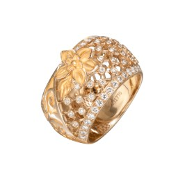 DA13605 010101 - Sierpes medium ring in yellow gold and diamonds