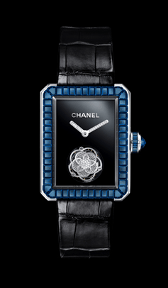 Chanel Premiere tourbillon zafiros azules.
