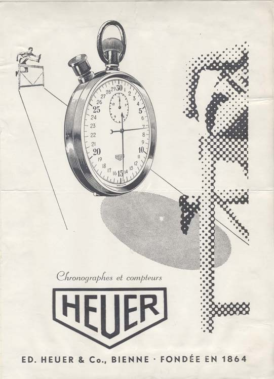Heuer advertising canpaign, before 1944