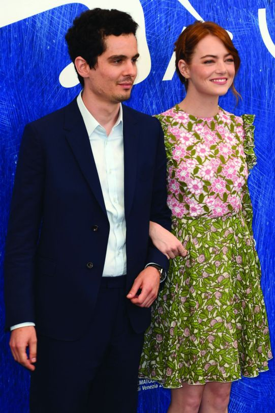 Damien Chazelle _Jaeger-LeCoultre watch and Emma Stone_ 73rd Venice Film Festival -Getty Images