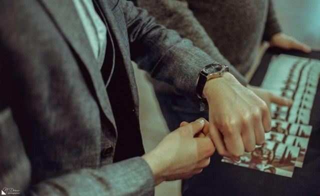 Lonvile Virage '59 Blue GMT on wrist