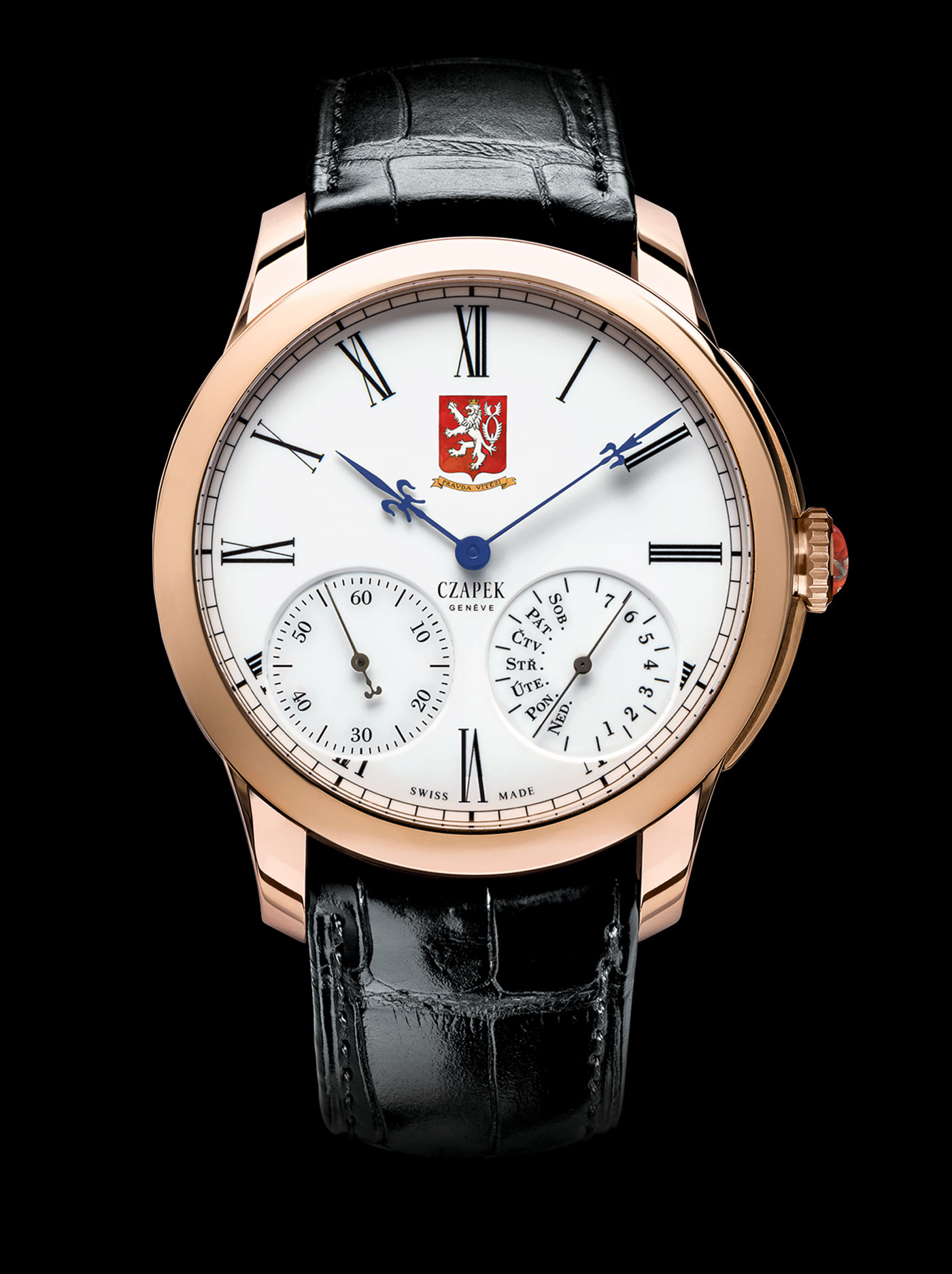 "Czapek & Cie Quai des Bergues ""Tribute to Czechia - 100th Anniversary"" gold soldat"