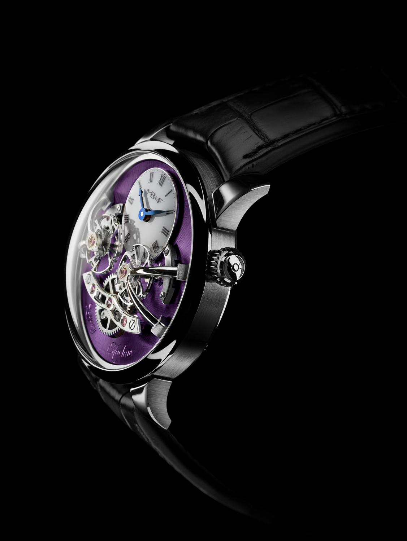 MB&F Legacy Machine No2 White Gold Purple side crown