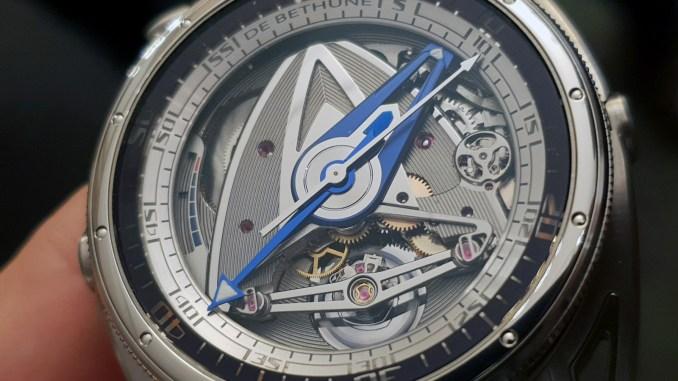 De Bethune DB28GS Grand Bleu dial 2
