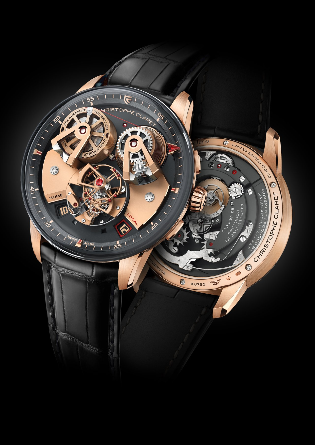 Christophe Claret Angelico red gold