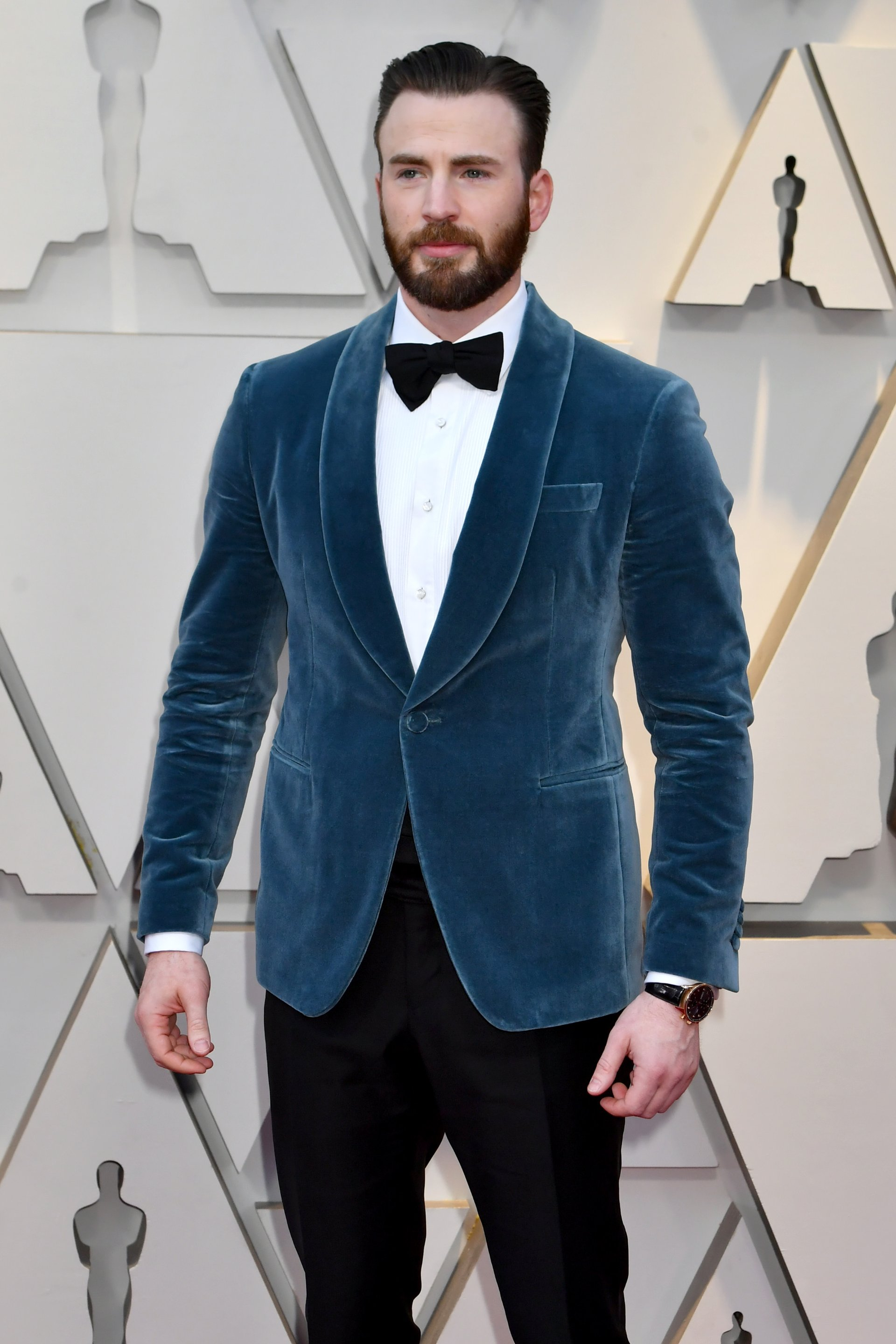 Chris Evans wearing IWC at the 91st Annual Academy Awards
