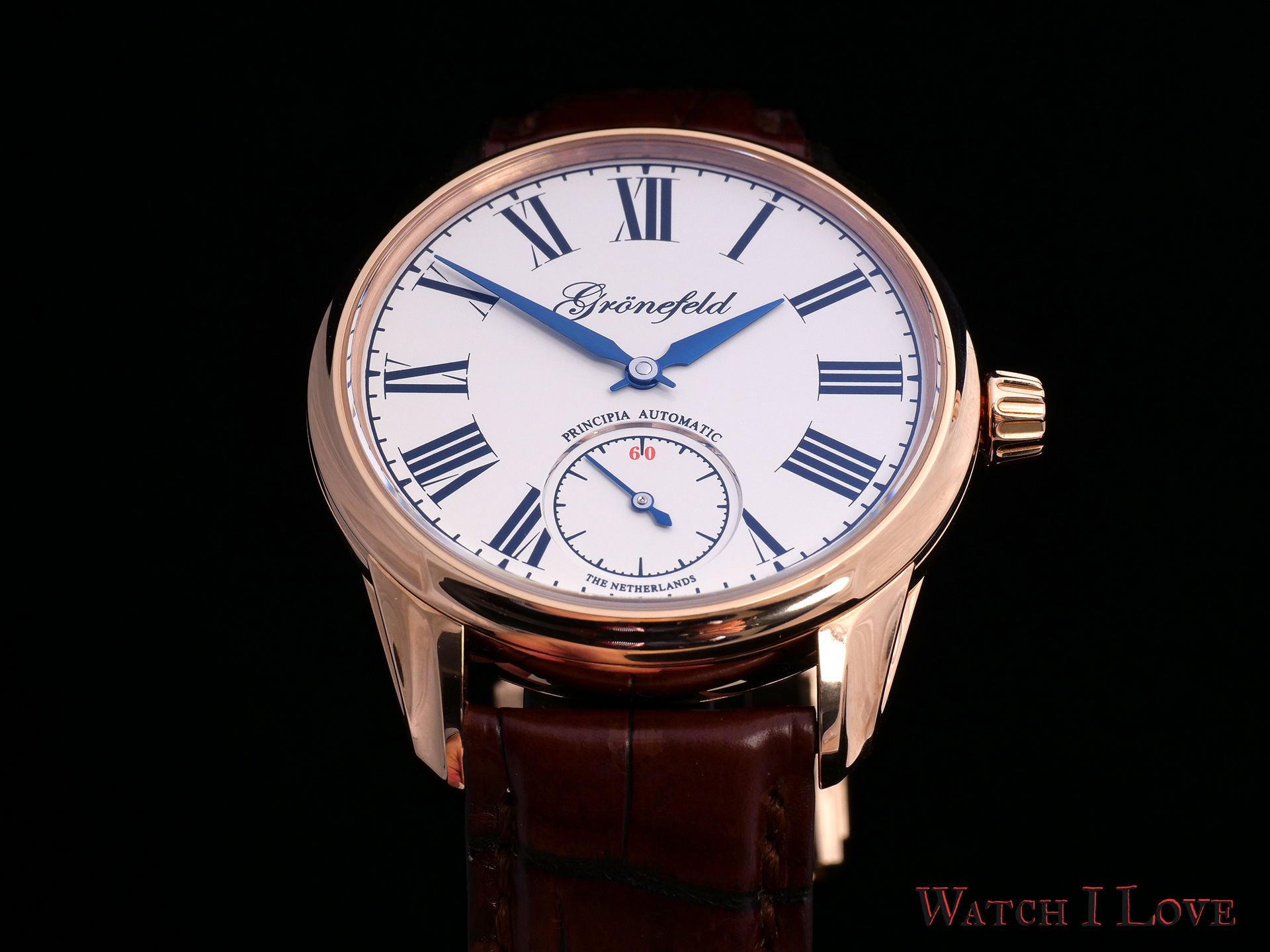 Grönefeld 1941 Principia in Red Gold Au750 5N