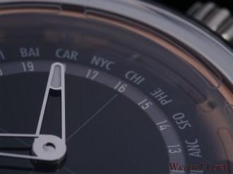 MING 19.02 Worldtimer dial detail