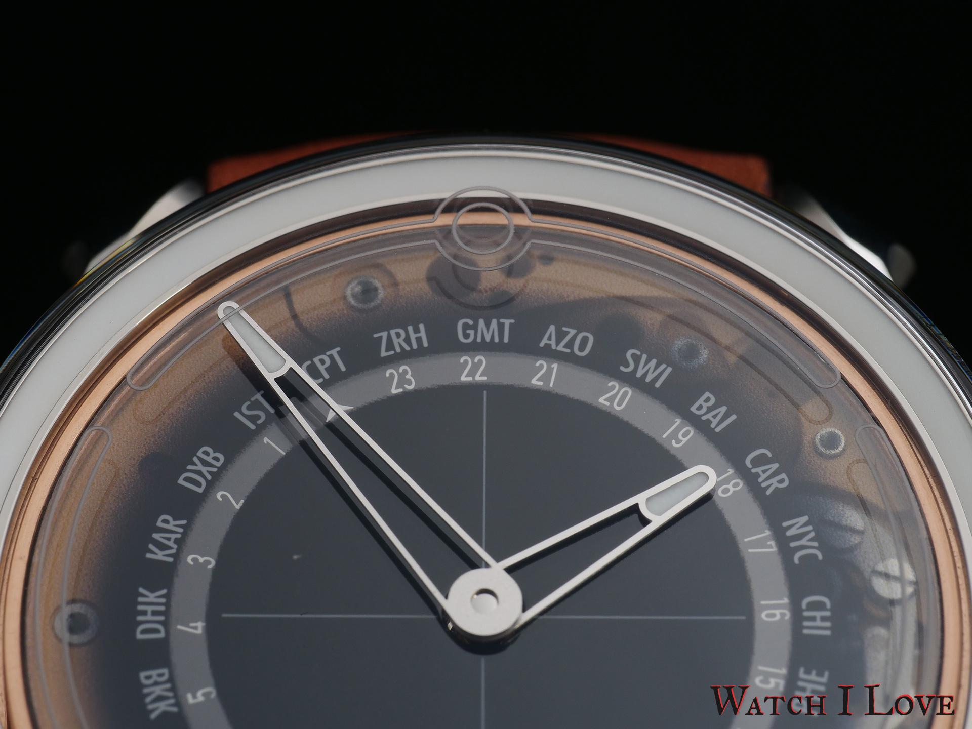 MING 19.02 Worldtimer dial detail 12 o'clock